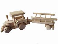Деревянная игрушка Трактор с прицепом (Игрушки)