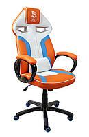 Поворотное спортивное игровое кресло DRAG Orange