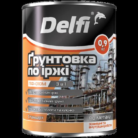 """Грунтовка по ржавчине TM """"Delfi"""" ПФ-010 М черная - 0,9 кг., фото 2"""