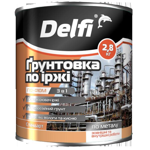 """Грунтовка по ржавчине TM """"Delfi"""" ПФ-010 М красно-коричневая - 2,8 кг."""