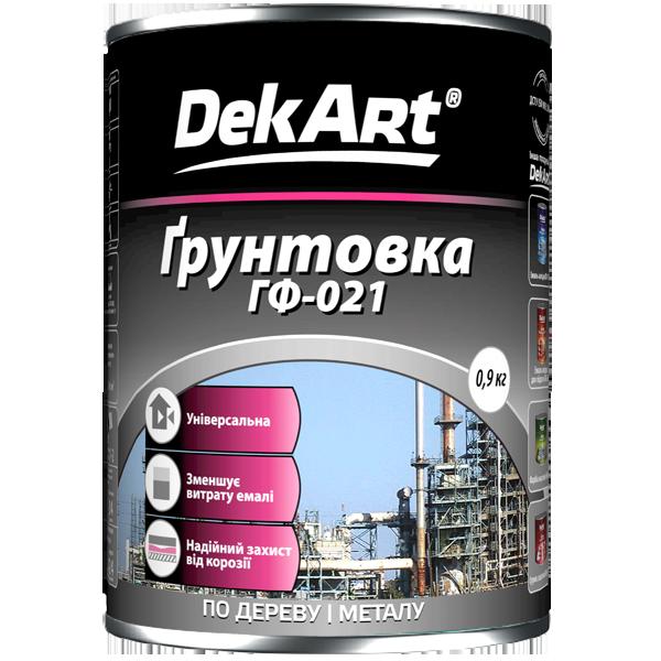 """Грунт антикоррозийный ГФ-021 TM """"DekArt"""" серый - 0,9 кг."""