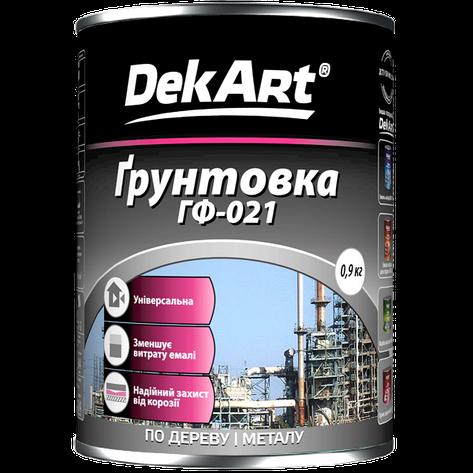 """Грунт антикоррозийный ГФ-021 TM """"DekArt"""" серый - 0,9 кг., фото 2"""