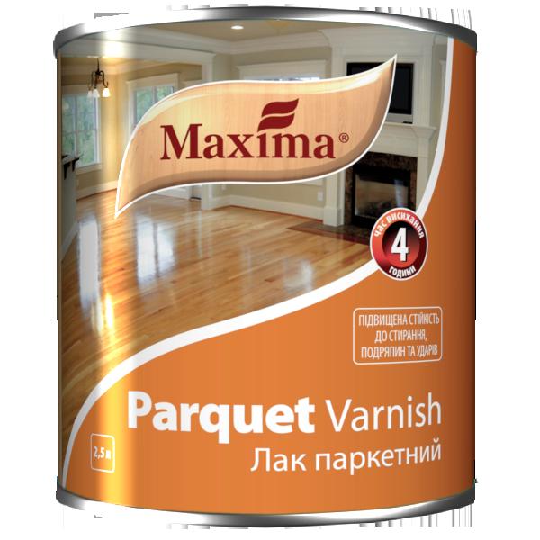 """Лак паркетный алкидно-уретановый TM """"Maxima"""" матовый - 2,5 л"""