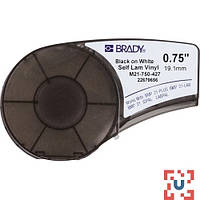 Brady M21-750-427 самоламинирующиеся кабельные маркеры, 19.05 мм/4.3 м (d4 мм), винил, (черный на белом)