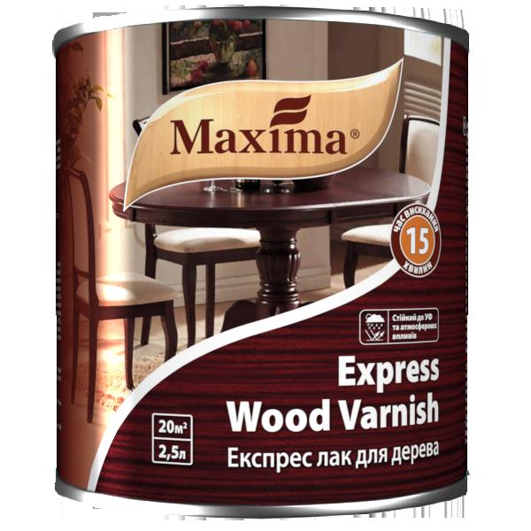 """Лак уретан-алкидный TM """"Maxima"""" Экспресс для дерева глянец - 2,5 л."""