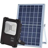 Светодиодный прожектор 25W на солнечной батарее с пультом / фонарь солнечный 6500К