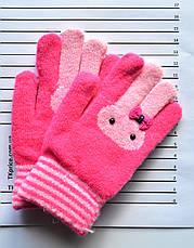 Детские шерстяные перчатки для девочек - длина 16 см, фото 3