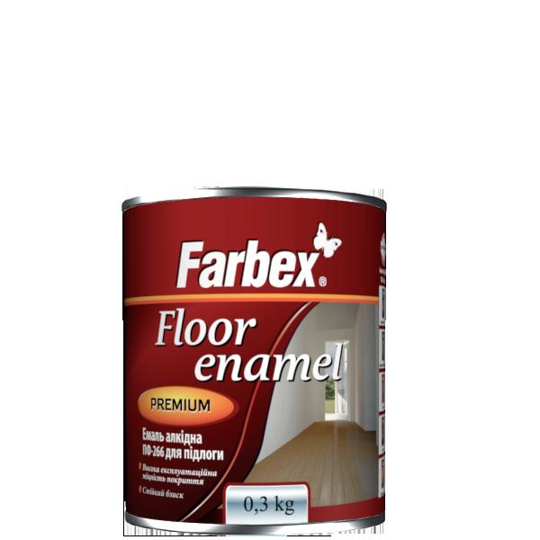 """Эмаль алкидная для пола ПФ-266  TM """"Farbex"""" желто - коричневая - 0,3 кг."""