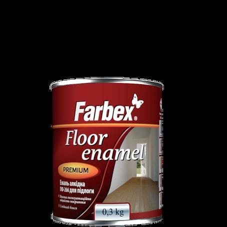 """Эмаль алкидная для пола ПФ-266  TM """"Farbex"""" золотисто - коричневая - 0,3 кг., фото 2"""