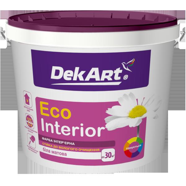 """Водно-дисперсионная краска для внутренних работ моющаяся TM """"DekART"""" Eko Interrior - 20,0 кг."""