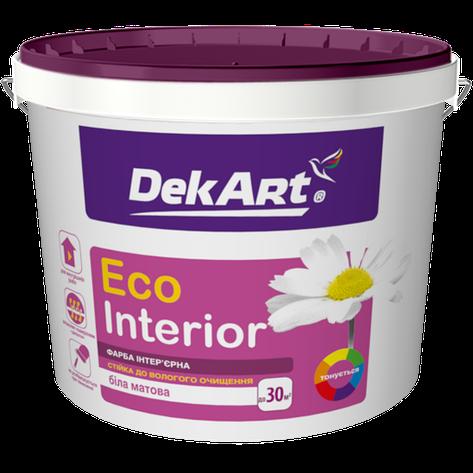 """Водно-дисперсионная краска для внутренних работ моющаяся TM """"DekART"""" Eko Interrior - 20,0 кг., фото 2"""