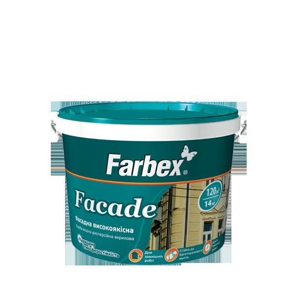 "Краска фасадная ТМ ""Farbex"" Faсade - 4,2 кг."