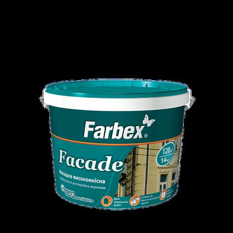 """Краска фасадная ТМ """"Farbex"""" Faсade - 7,0 кг., фото 2"""