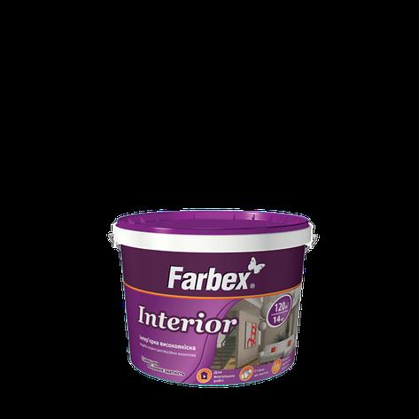"""Краска интерьерная высококачественная ТМ """"FARBEX"""" Interior - 1,4 кг., фото 2"""