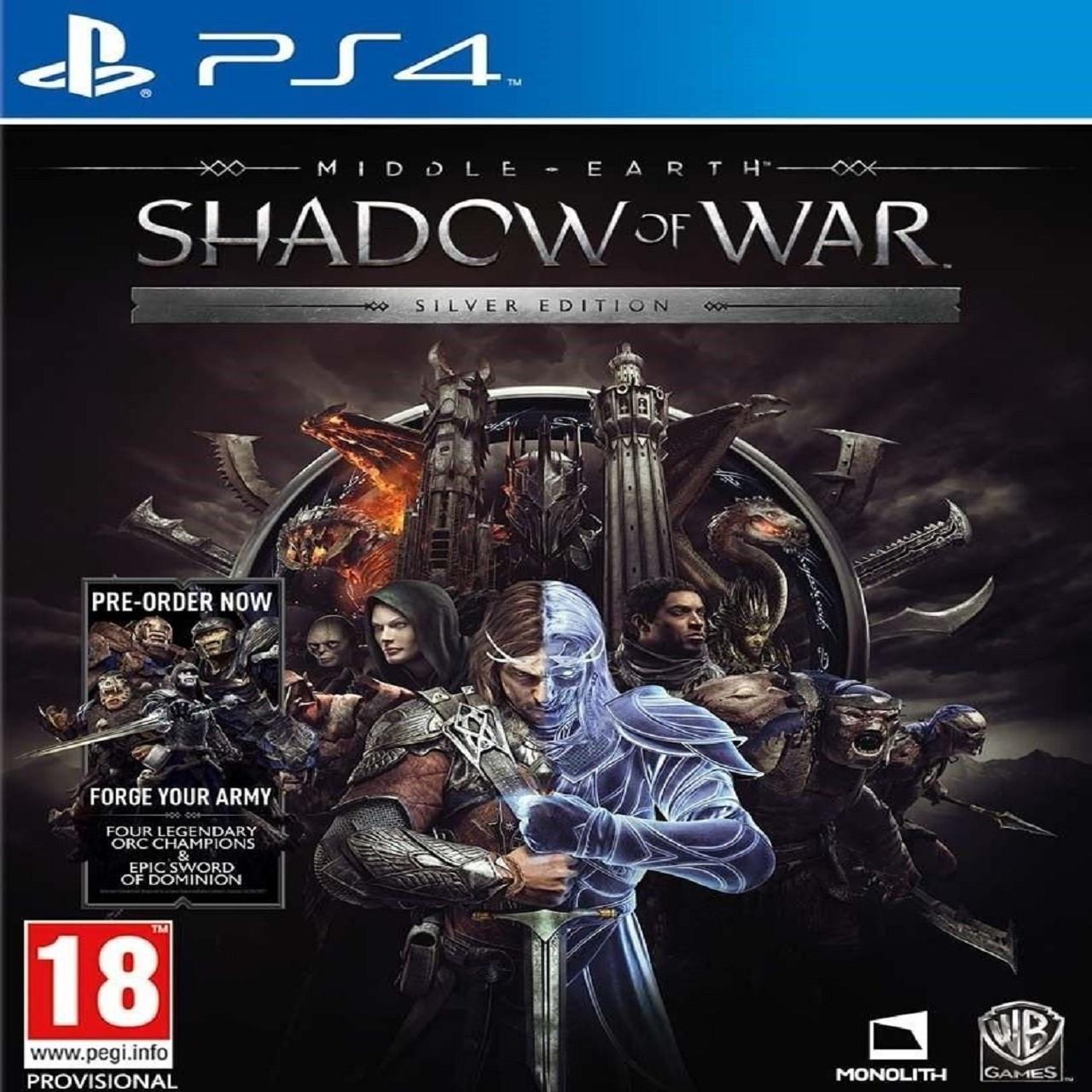 Middle-Earth: Shadow of War Silver Edition (російська версія) PS4