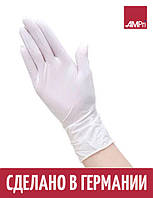 Перчатки нитриловые WHITE BASIK-PLUS Ampri 200 шт белые