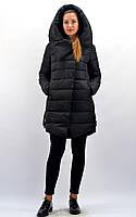 Женский пуховик черного цвета с капюшоном ТМ Bei Bei артикул 8118, размеры: S, M, L, XL, XXL.