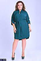 Платье - рубашка больших размеров арт 7093