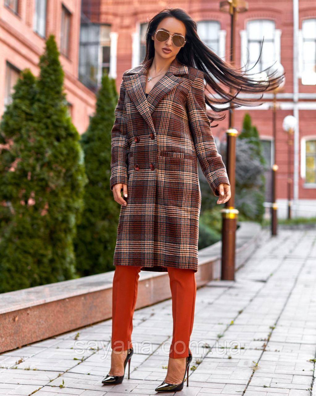 Женское пальто с отложным воротникомА-1-0919