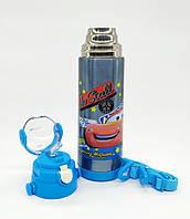 Детский термос с трубочкой 500 мл маквин тачки