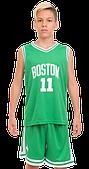Форма баскетбольная детская и подростковая NBA BOSTON (PL, р-р M-2XL-130-165см, зеленый)
