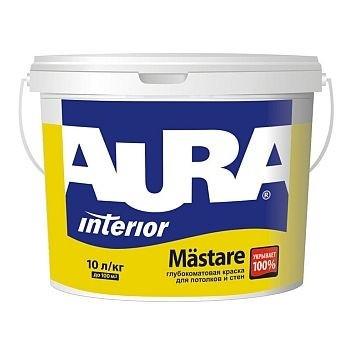 """Краска высокоукрывистая матовая ТМ """"AURA"""" Mastare - 1,0 л."""