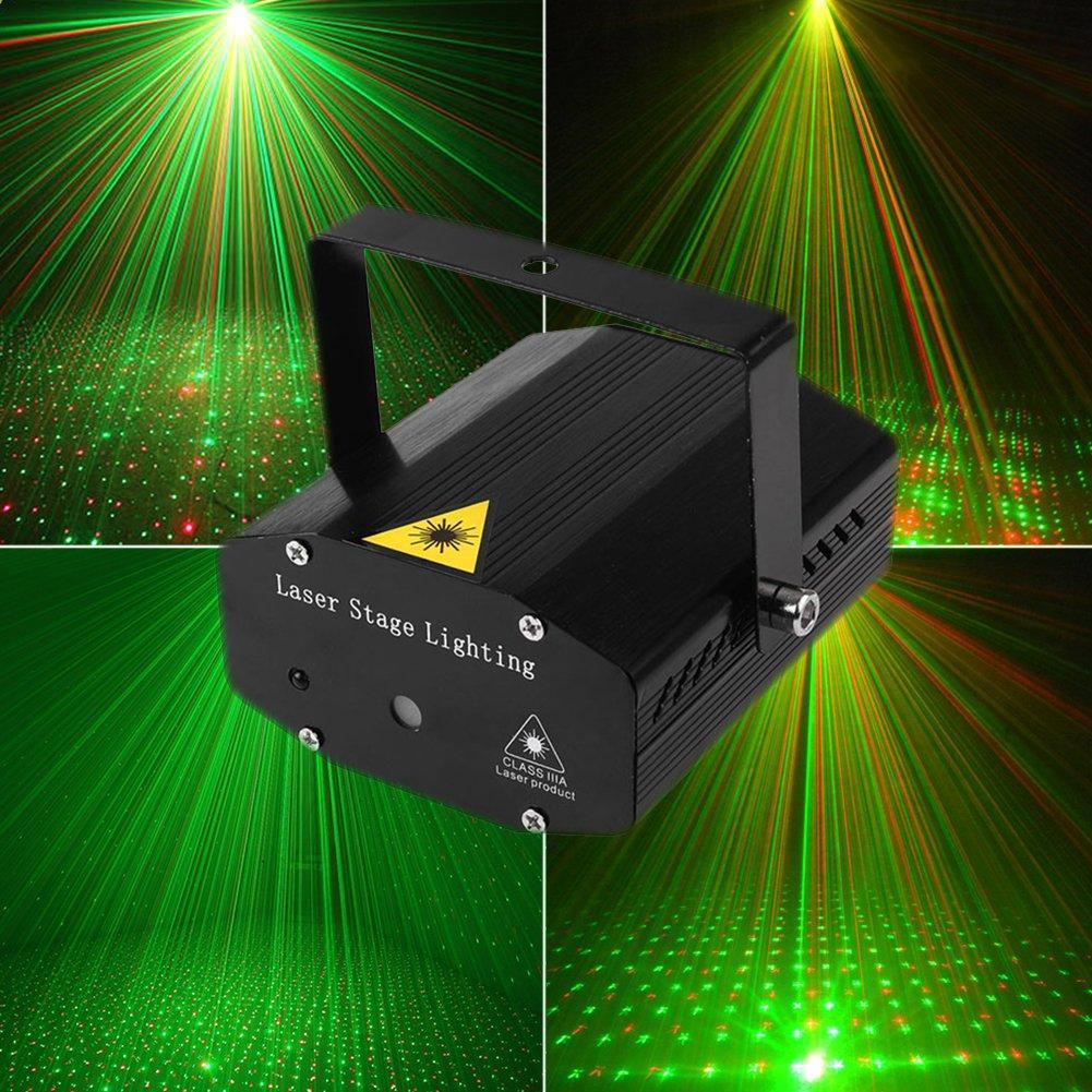 Лазерный проектор потолочный с треногой 4в1 стробоскоп диско лазер HJ08 дискотечный для нового года
