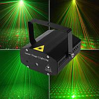 Лазерный проектор потолочный с треногой 4в1 стробоскоп диско лазер HJ08 дискотечный для нового года, фото 1