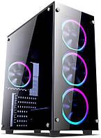 Корпус 1stPlayer Fire Dancing-V2 Color LED Black без БП