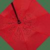 Зонт наоборот с Оранжевым цветком || Up-brella (анти-зонт), фото 3