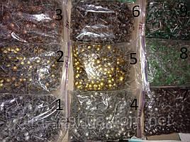 Гвоздь обивочный декоративный, Мебельные кнопки (гвозди), (Пачка 750 шт. Вес 1 кг.), цвет коричневый