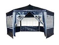 Садовый павильон с окнами 2х2х2 м / Торговая палатка синий