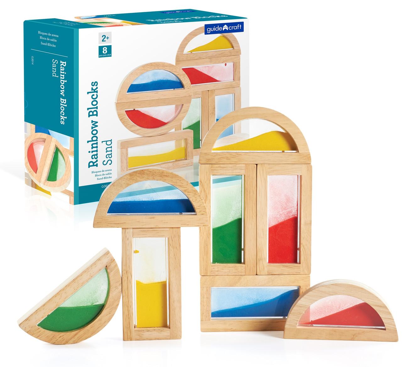 Набор стандартных блоков Цветной песок Block Play Guidecraft 8 дет. (G3014)