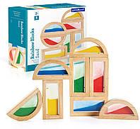 Набор стандартных блоков Цветной песок Block Play Guidecraft 8 дет. (G3014), фото 1