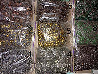 Гвоздь обивочный декоративный, Мебельные кнопки (гвозди), (Пачка 750 шт. Вес 1 кг.), цвет светлое золото