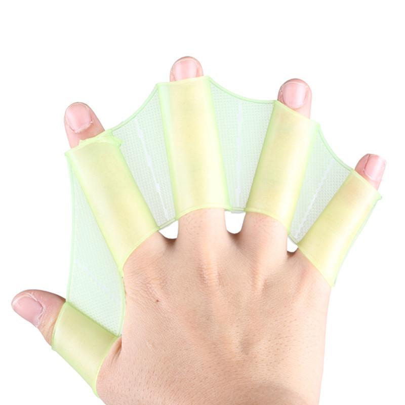 Ласти для рук жовті універсальні, Дитячі та Дорослі