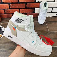 Кроссовки мужские Nike Air Jordan x OFF-White (реплика) 00039 ⏩ [ 40.41.42.43 ]