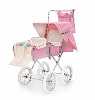 Кукольная коляска для двойни Bebelux Twin Big Pink