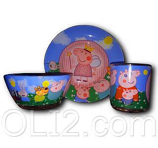 Набор детской посуды 3 в 1