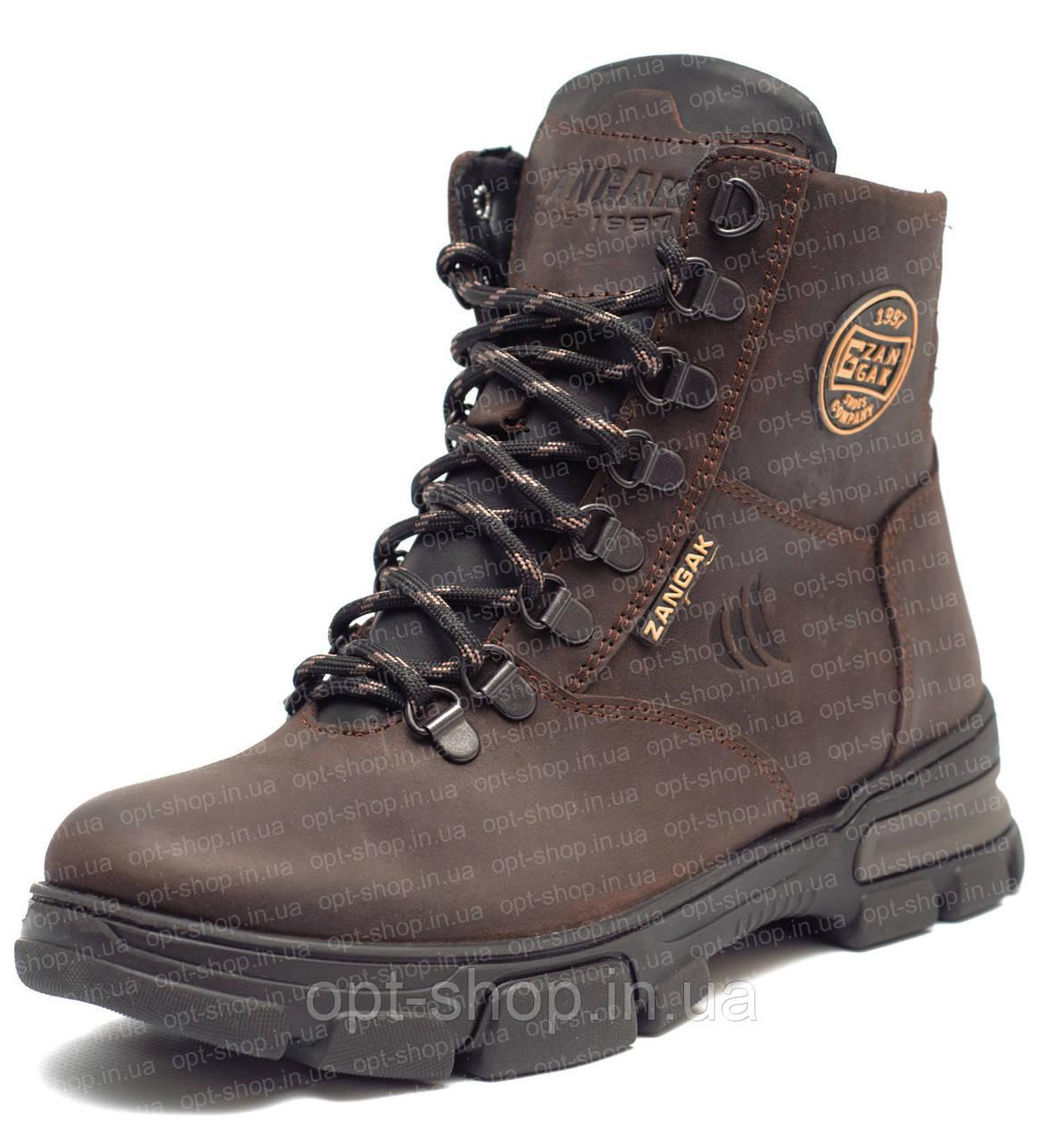 Ботинки детские подростковые зимние кожаные для мальчика (берцы)