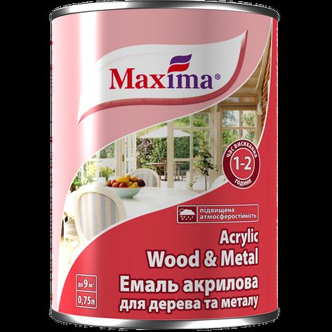 """Эмаль акриловая для металла и дерева TM """"Maxima"""" - 0,75 кг., фото 2"""