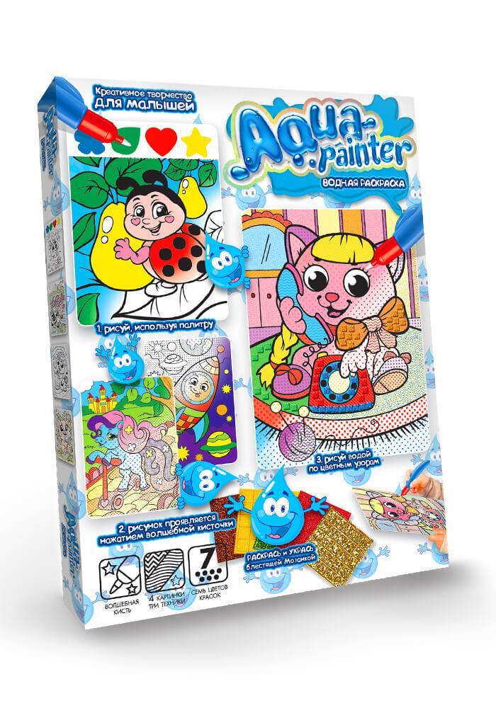 Набор для творчества Danko Toys Водная раскраска Aqua painter (AQP-01-02)