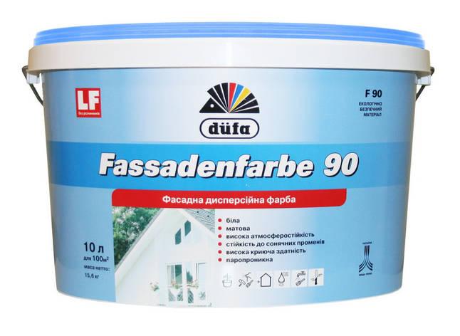 "Краска фасадная ТМ ""DUFA"" Fassadenfarbe F90 - 1,0 л., фото 2"