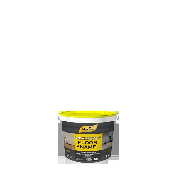 """Краска акриловая для полов TM """"Maxima"""" желто-коричневая (RAL 8003) - 0,9 л."""