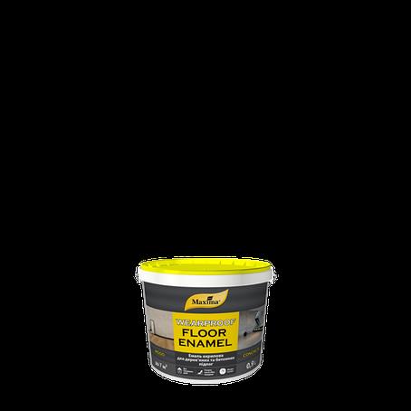 """Краска акриловая для полов TM """"Maxima"""" желто-коричневая (RAL 8003) - 0,9 л., фото 2"""