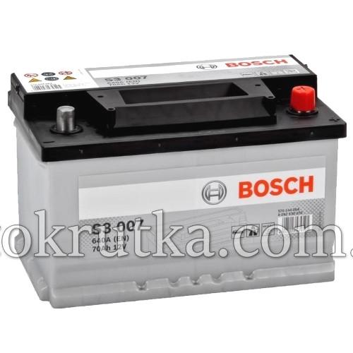 Аккумулятор Bosch S3 007 70Ah 12V