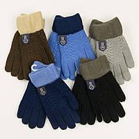 Оптом перчатки для мальчиков на 5-7 лет - 19-7-54, фото 1