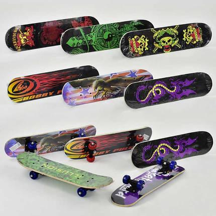 Скейт 8 видов, колесо d=5cm, PVC, длина доски =60см в п/э /24/, фото 2
