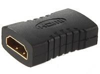 З'єднувач HDMI-HDMI ATcom (male-female) перехідник адаптер прямий мама-мама, фото 1
