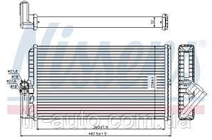 Радиатор печки MERCEDES ACTROS, ACTROS MP2 12.84- ( NISSENS ) 72034